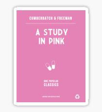 BBC Sherlock - A Study in Pink Minimalist Sticker