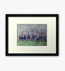 New Zealand World Cup 2015 Rugby Team Framed Print