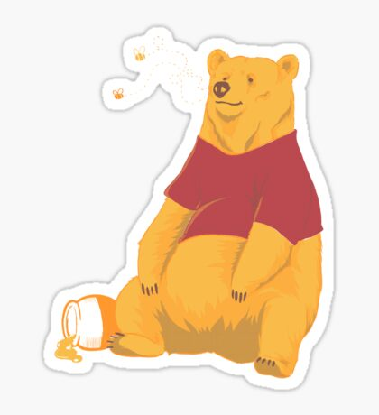 Pooh at the Zoo Sticker