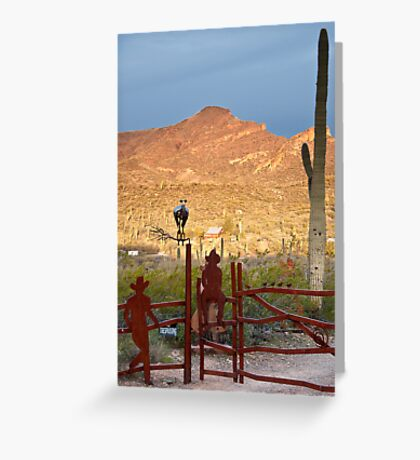 Desert Ranch Greeting Card