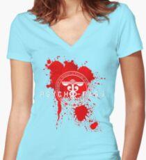 Psycho-Pass Logo Women's Fitted V-Neck T-Shirt