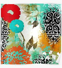 Bali I Abstract Collage Fine Art Poster