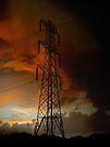 Electric Pylon at Dusk by David Carton