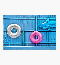 Floats On A Fence Photographic Print