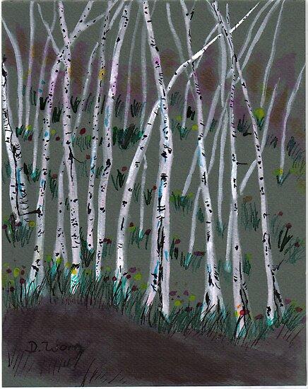 spring birches by wormink
