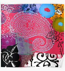 Bali III Abstract Fine Art Collage Poster