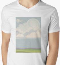 Stylised clouds Men's V-Neck T-Shirt