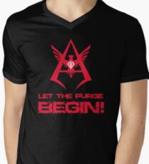 LET THE PURGE BEGIN! Men's V-Neck T-Shirt