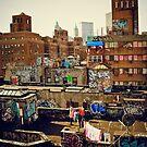 Urban Layer Cake - Chinatown Rooftop Graffiti - NYC by Vivienne Gucwa