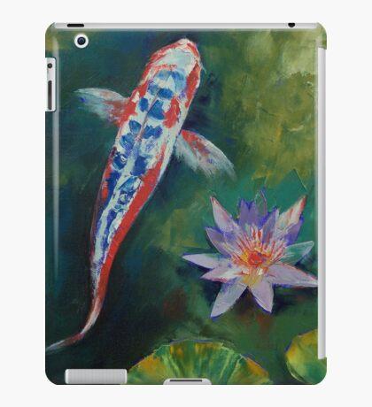 Shusui Koi and Water Lily iPad Case/Skin
