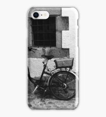 Parked Bicycle in a Corner iPhone Case/Skin
