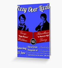 Tizzy Over Lizzie (Poster) Greeting Card