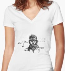 Why so sneaky? Women's Fitted V-Neck T-Shirt