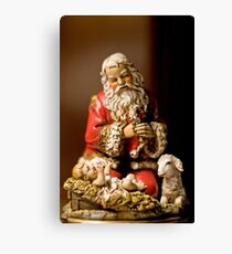 Kneeling Santa Canvas Print