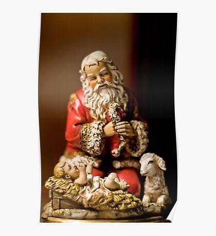 Kneeling Santa Poster