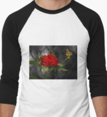 ROSE AND THE PAINTED LADY Men's Baseball ¾ T-Shirt