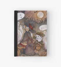 The Gathering - Kitten Witch Ghost Halloween Hardcover Journal