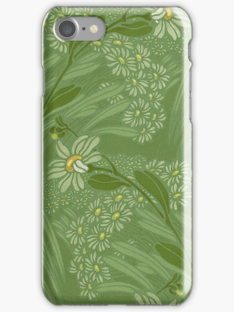 iPhone Case Nouveau Green by Melanie  Dooley