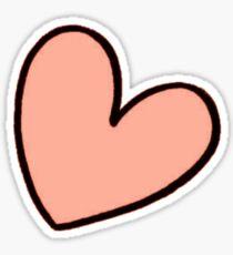Orange Heart Sticker tumblr Sticker