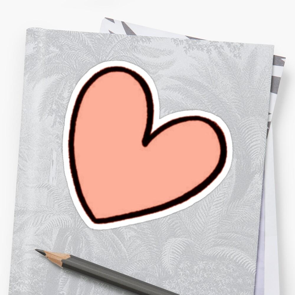 Pegatinas «Naranja corazón etiqueta tumblr» de youtubemugs | Redbubble