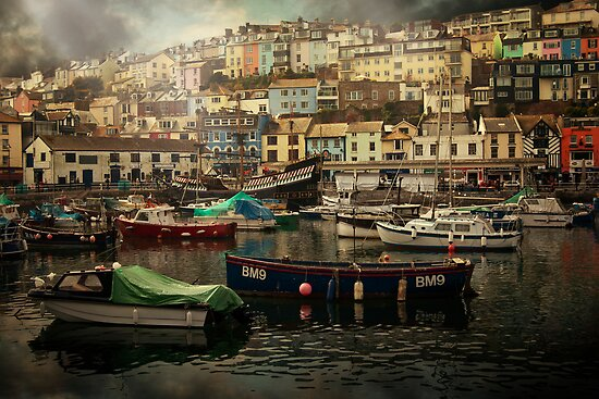 Harbour and boats by ajgosling