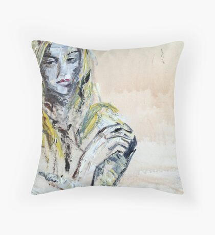 * & Alone *  painted Throw Pillow