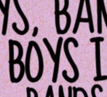 """Boys In Bands"" tumblr sticker Sticker"