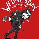 Wednesday Hates The World by Paula García