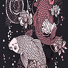 pink and black koi by jashumbert