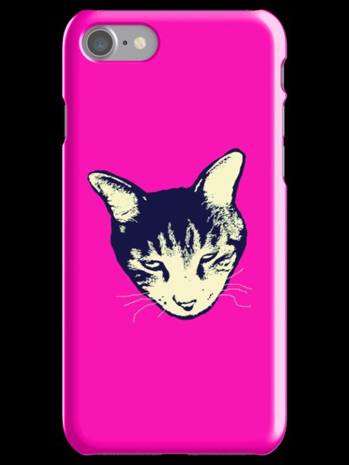 Weird Cat Head iPhone by Margaret Bryant
