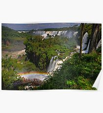 Rainbow and Falls Poster