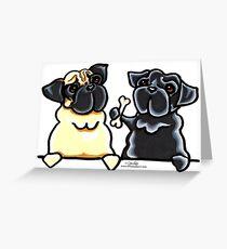 Tarjeta de felicitación Bone to Pug