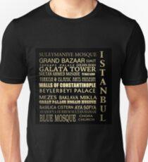 Istanbul Turkey Famous Landmarks Unisex T-Shirt