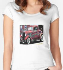 vintage car Women's Fitted Scoop T-Shirt