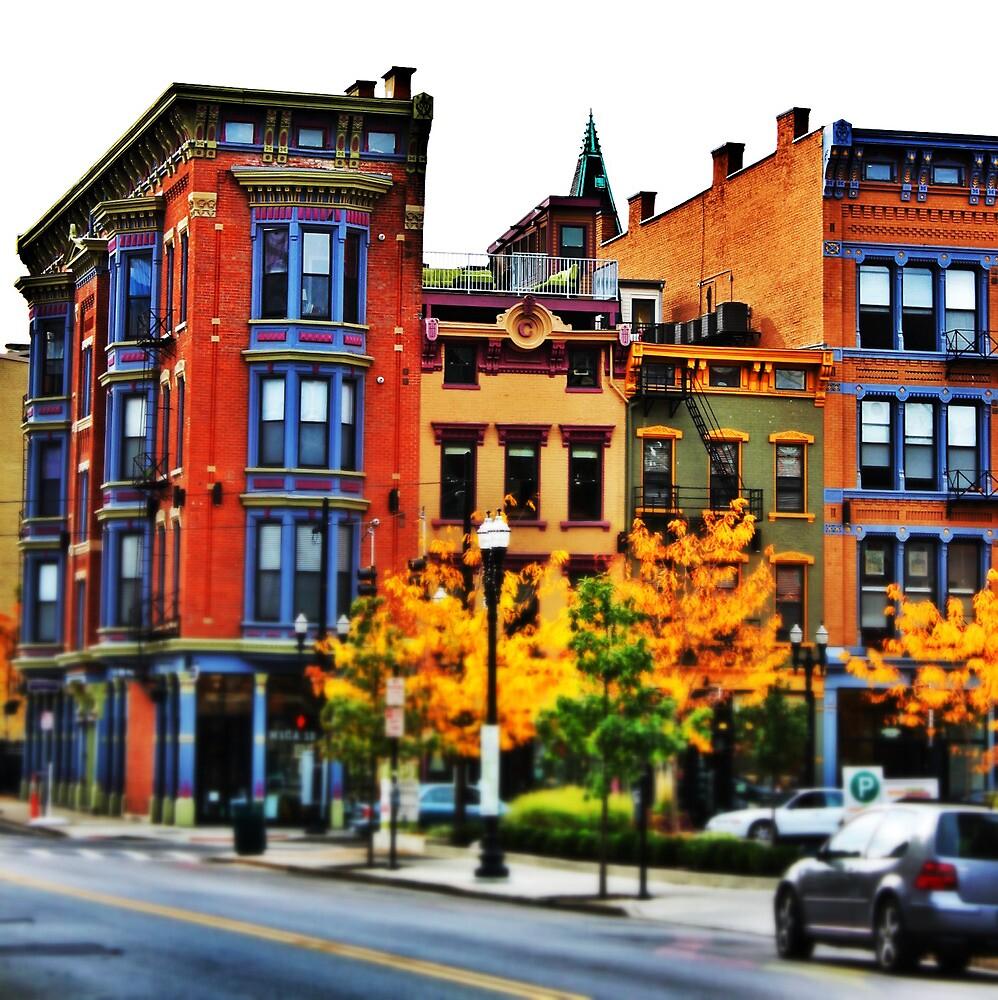 Row of Buildings - Downtown Cincinnati by Alex Baker