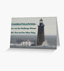Challenge Winner - Lighthouse Greeting Card