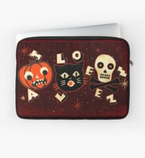 Halloween pumpkin cat skull vintage Laptop Sleeve
