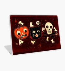Halloween pumpkin cat skull vintage Laptop Skin