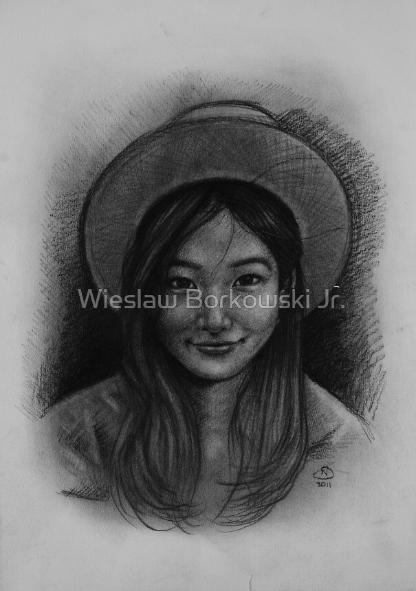 Charcoal portrait 01 by Wieslaw Borkowski Jr.