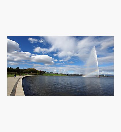 Captain Cook Fountain, Lake Burley Griffin Photographic Print