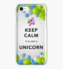 Keep Calm Unicorn Around iPhone Case/Skin
