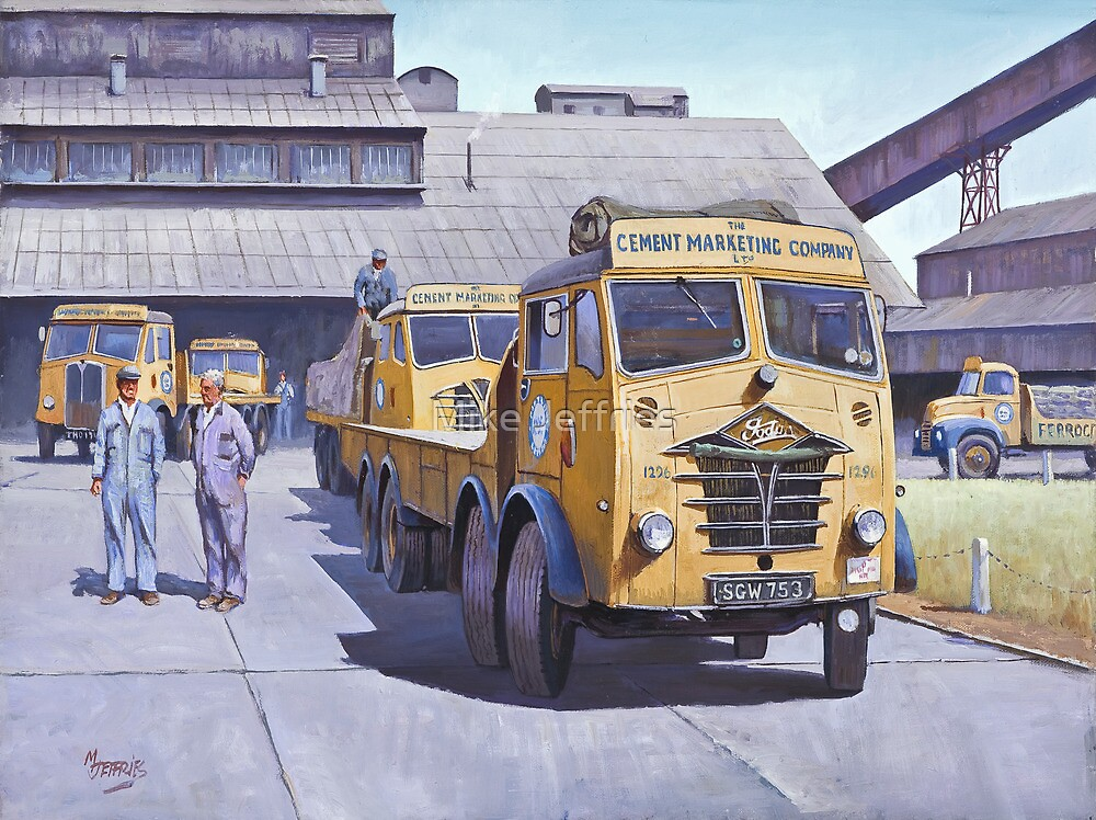 Blue Circle Foden S18  by Mike Jeffries