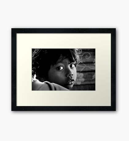 She Just Stared Framed Print