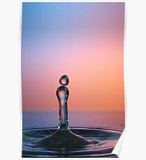 Splashing Water Droplet Poster