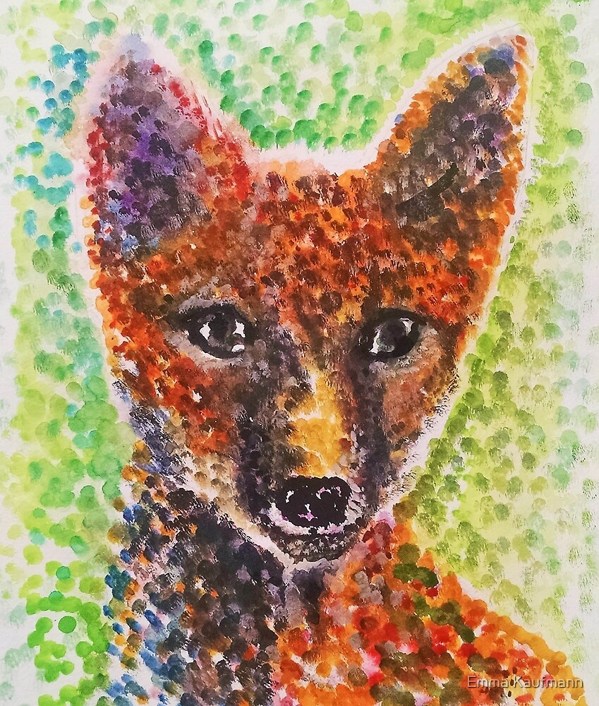Polka Dot Fox by Emma Kaufmann
