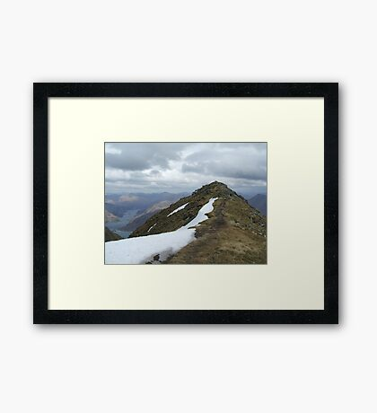 path just trodden Framed Print