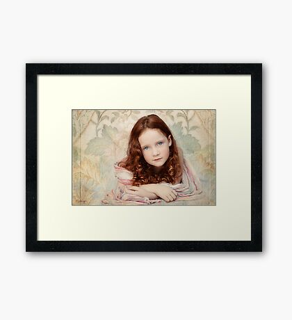 Pre-Raphaelite Redhead on a Pale Afternoon Framed Print