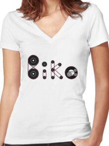 Bike Gear Women's Fitted V-Neck T-Shirt