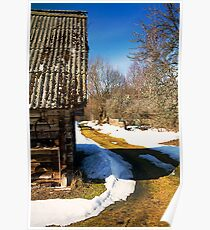 Farm. Spring. Poster