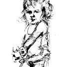 """""""Girl with toy"""" by Tatjana Larina"""